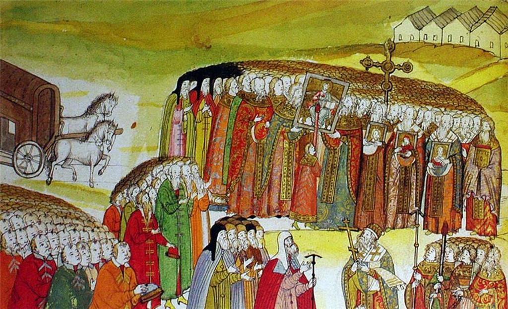 1619 год Встреча патриарха Филарета из польского плена.jpg